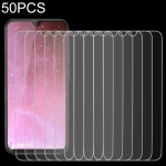 50 PCS For Cubot R19 2.5D Non-Full Screen Tempered Glass Film