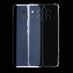 For Nokia 9 Four-Corner Shockproof Ultra-Thin Transparent TPU Case