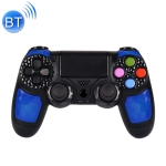 Wireless Bluetooth Diamond Texture Shock Touch Plate Game Handle Controller with Smart Indicator for Sony PS4 (Blue)