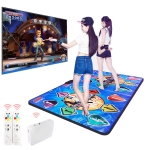 HD Wireless Double PVC Dancing Blanket TV Computer Dual-use Somatosensory Dancing Machine (Blue)