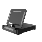 Portable Foldable Charging Charger Base Stand Station for Switch Lite (Black)
