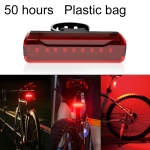 A02 Bicycle Taillight Bicycle Riding Motorcycle Electric Car LED Mountain Bike USB Charging Safety Warning Light (50 Hours, Plastic Bag)