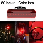 A02 Bicycle Taillight Bicycle Riding Motorcycle Electric Car LED Mountain Bike USB Charging Safety Warning Light (50 Hours, Color Box)