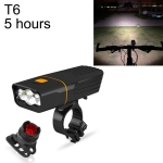 TK3 USB Charging Bicycle Light LED Flashlight (5 Hours, T6 + Gem Lamp)