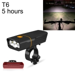 TK3 USB Charging Bicycle Light LED Flashlight (5 Hours, T6 + A02 Lamp)