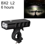 BX2 USB Charging Bicycle Light Front Handlebar Led Light (6 Hours, L2 Lamp Beads)