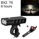 BX2 USB Charging Bicycle Light Front Handlebar Led Light (6 Hours, T6+Gem Lamp)