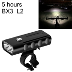 BX3 USB Charging Bicycle Light Front Handlebar Led Light (5 Hours, L2 Lamp Beads)