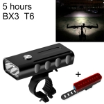 BX3 USB Charging Bicycle Light Front Handlebar Led Light (5 Hours, T6+A02 Lamp)