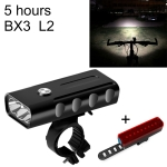 BX3 USB Charging Bicycle Light Front Handlebar Led Light (5 Hours, L2+A02 Lamp)