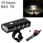 BX3 USB Charging Bicycle Light Front Handlebar Led Light (10 Hours, T6+Gem Lamp)