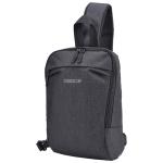 B19 Osoce Outdoor Large Capacity Slant Across Waterproof Business Single Shoulder Backpack (Black)