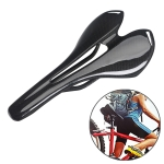 TOSEEK Road Bike Carbon Fiber Seat Bicycle Hollow Seat Saddle, 3K Texture +  Light