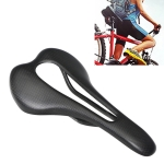 TOSEEK Road Bike Carbon Fiber Seat Bicycle Hollow Seat Saddle, 3K Texture + Extinction