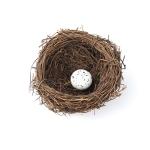 8cm Simulation Bird Nest + 1 PCS Bird Egg Holiday Decoration
