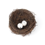 10cm Simulation Bird Nest + 2 PCS Bird Egg Holiday Decoration