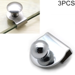 3 PCS Zinc Alloy Bright Open Hole Free Glass Cabinet Door Handle, Size: L