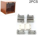 2 PCS Glass Clip Double Door Touching Exhibition Cabinet Hinge