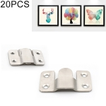 20 PCS Stainless Steel Picture Frame Hanging Code Mirror Fastener, Size: L