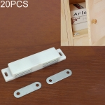 20 PCS Plastic Strong Magnetic Cupboard Door Suction Wardrobe Bookcase Home Accessories, Size: L