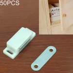 50 PCS Plastic Strong Magnetic Cupboard Door Suction Wardrobe Bookcase Home Accessories, Size: S