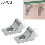 30 PCS Large Right Angle Thickened Zinc Alloy Bright Layer Sucker Plate Bracket, Weight: 12.2g
