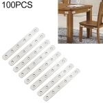100 PCS Stainless Steel Connection Code Straight Connecting Piece, Number: 8