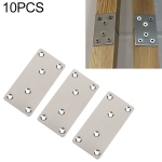 10 PCS Stainless Steel Connection Code Straight Connecting Piece, Number: 14