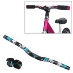 TOSEEK Carbon Fiber Children Balance Bike Bent Handlebar, Size: 540mm(Blue)