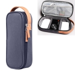 Multi-function Headphone Charger Data Cable Storage Bag, Ultra Fiber Portable Power Pack, Size: M, 16.5x6x23.5cm (Blue)