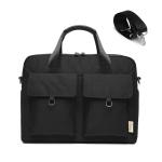 Laptop Bag Double Pocket Single Shoulder Bag, Size: 15.6 Inches (Black)