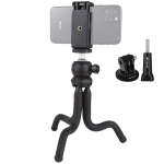PULUZ Mini Octopus Flexible Tripod Holder with Ball Head & Phone Clamp + Tripod Mount Adapter & Long Screw for SLR Cameras, GoPro, Cellphone, Size: 25cmx4.5cm