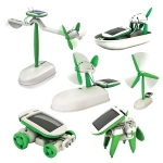6 in 1 Solar Energy Windmill Shape Children DIY Assembled Educational Toys