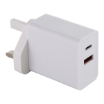 24W PD + QC3.0 Fast Charger Power Adapter Plug Adapter UK Plug