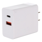 24W PD + QC3.0 Fast Charger Power Adapter Plug Adapter US Plug