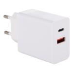 24W PD + QC3.0 Fast Charger Power Adapter Plug Adapter EU Plug