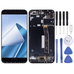 LCD Screen and Digitizer Full Assembly with Frame for Asus ZenFone 4 ZE554KL Z01KDA Z01KD Z01KS (Black)