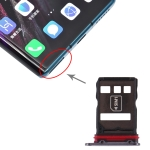 Original SIM Card Tray + NM Card Tray for Huawei Mate 30 Pro (Black)