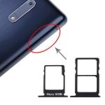 SIM Card Tray + SIM Card Tray + Micro SD Card Tray for Nokia 5 / N5 TA-1024 TA-1027 TA-1044 TA-1053 (Black)