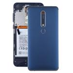 Battery Back Cover with Camera Lens & Side Keys & Fingerprint Sensor for Nokia 6.1 / 6 (2018) / 6 (2nd Gen)(Blue)