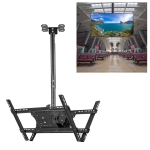 32-65 inch Universal Height & Angle Adjustable Double-sided TV Wall-mounted Ceiling Dual-use Bracket, Retractable Range: 0.5-1m