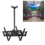 32-70 inch Universal Height & Angle Adjustable Double-sided TV Wall-mounted Ceiling Dual-use Bracket, Retractable Range: 0.5-1m
