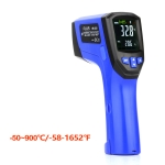 FLUS IR-833 -50~900℃ LCD Color Display Double Laser Point Handheld Digital Electronic Outdoor Hygrometer Thermometer