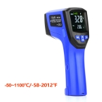 FLUS IR-834 -50~1100℃ Laser Infrared LCD Color Display Double Laser Point Handheld Digital Electronic Outdoor Hygrometer Thermometer