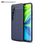 For Xiaomi Mi CC9 Pro / Note 10 Litchi Texture TPU Shockproof Case(Navy Blue)