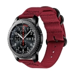 For Samsung Galaxy Watch Active 22mm / S3 Nylon Three-ring Strap(Wine Red)