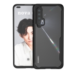 For Huawei nova 6 Transparent PC + TPU Full Coverage Shockproof Protective Case(Black)