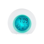 Round Color Light Gradient Alarm Clock Perpetual Calendar Clock