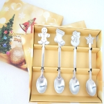 2 Sets Creative Stainless Steel Christmas Cutlery Four-piece Set
