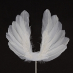 2 PCS Party Cake Decoration Wings Decoration Feather Wings Card(White)